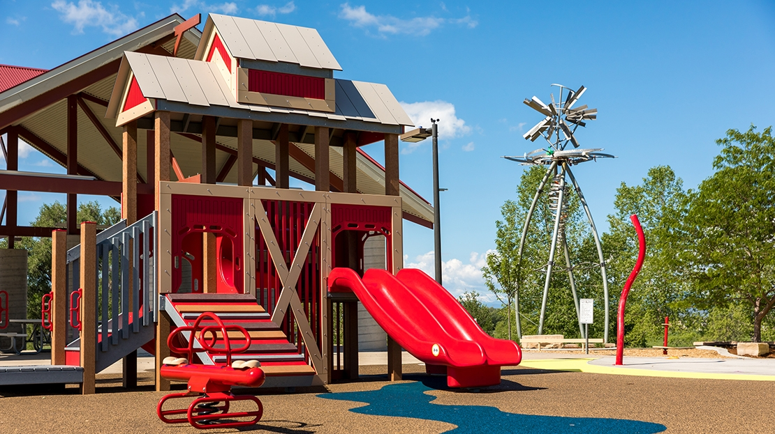 barn themed playground in colorado