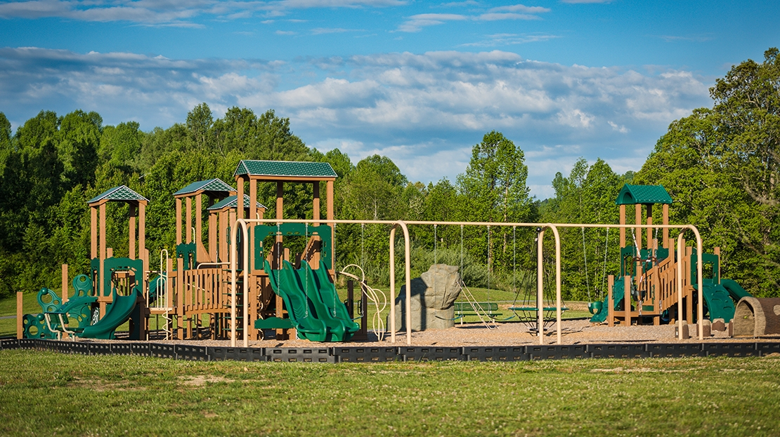 recycled playground at tuxedo park in north carolina