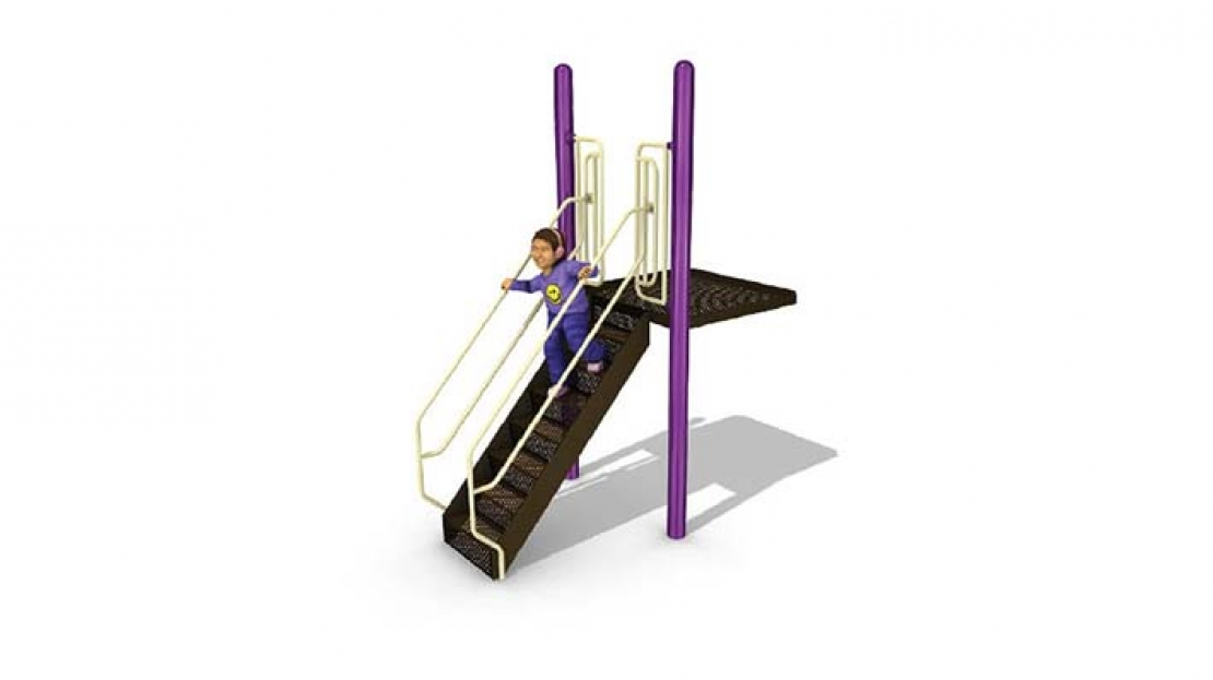 ground-do-deck playground stairs