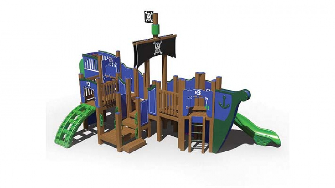 pirate ship themed playground