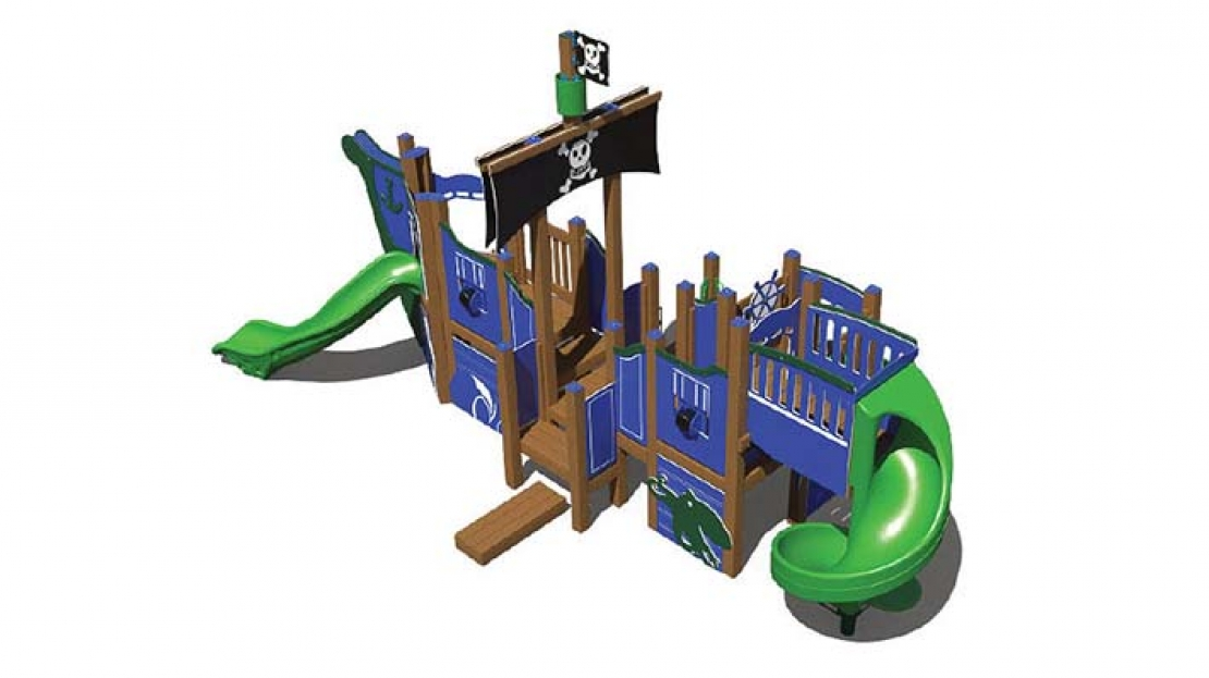recycled themed playground