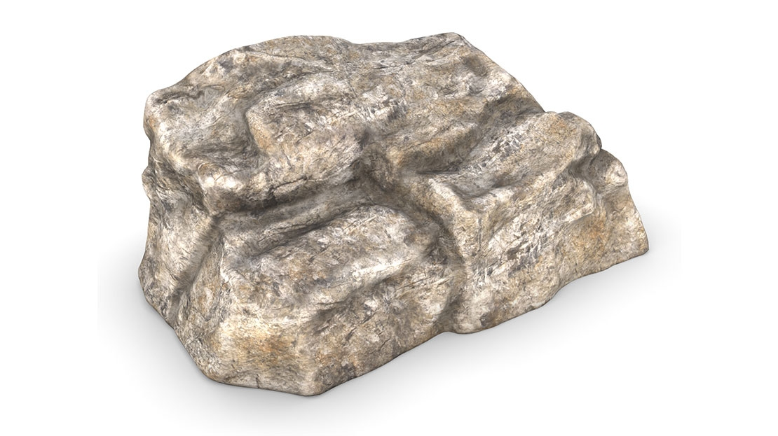 small playground climbing boulder