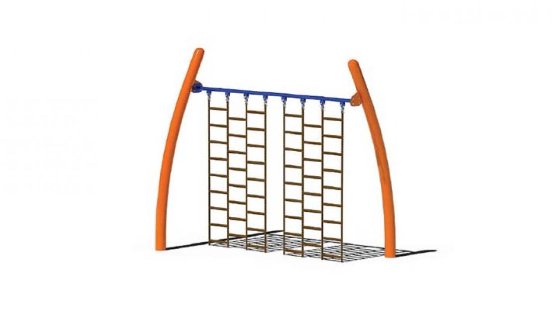 straight climbing wall playground component