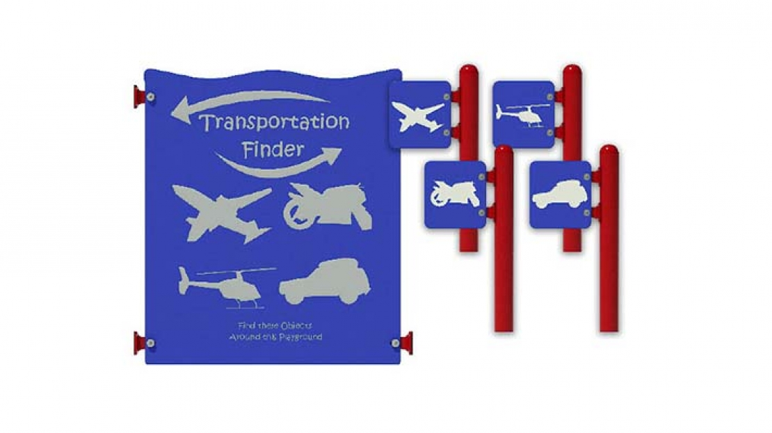 transportation finder activity panel set for commercial playgrounds