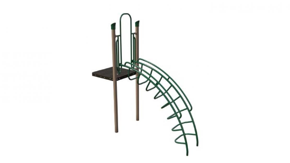 deep rung arch playground climber component