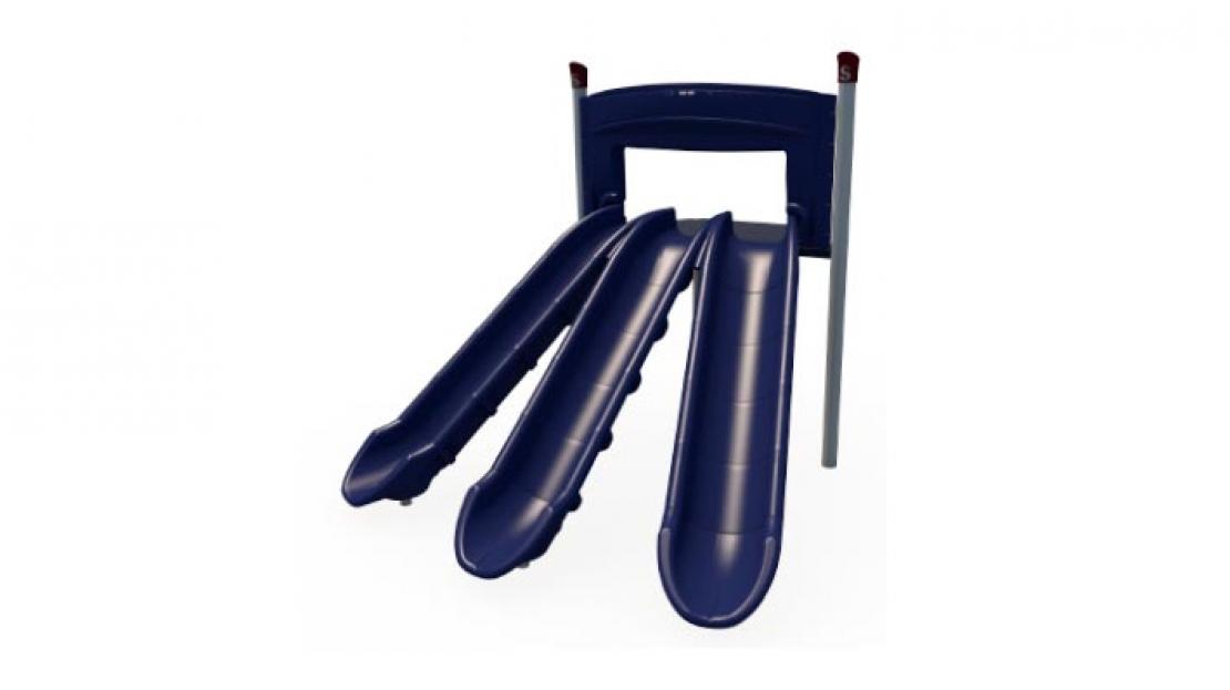 triple chute playground slide