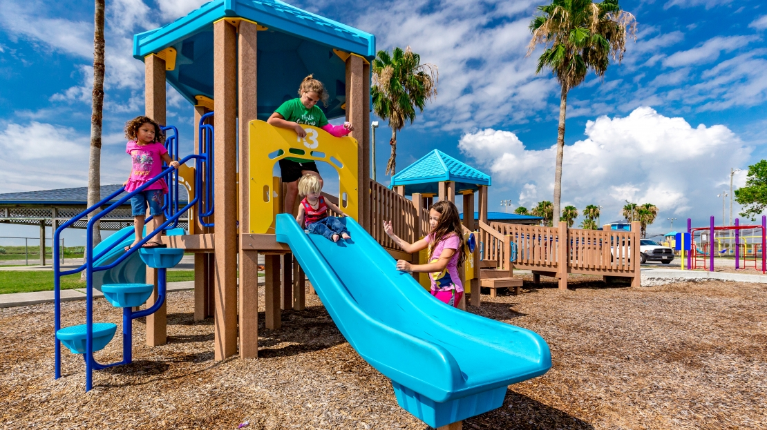 Kids on Slide Texas