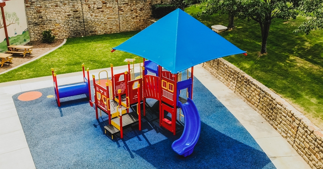 church playground with shade in texas