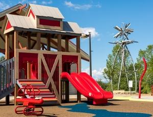 barn themed playground in colorado