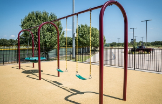 arched playground swing