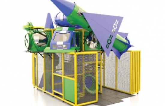 rocket themed indoor playground equipment