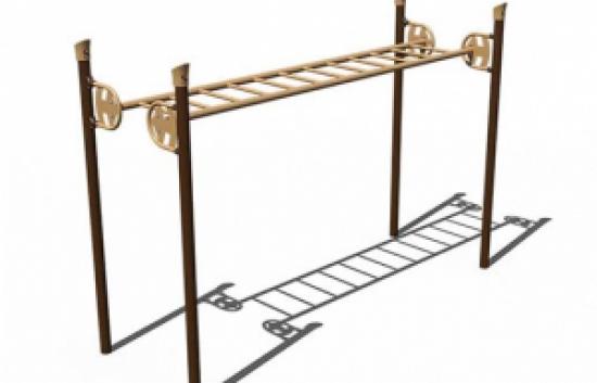 straight overhead ladder for playground