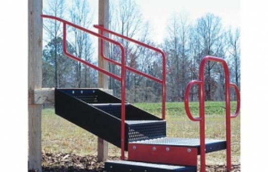 ADA transfer station for commercial playground