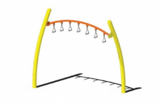 arched trapeze overhead ladder