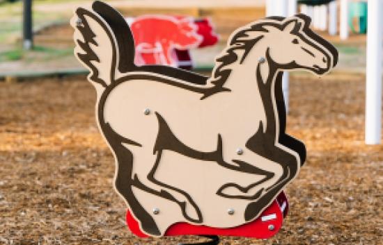 horse playground rider