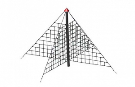 pyramid net playground climber