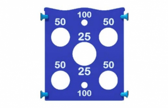 Ball Toss playground panel