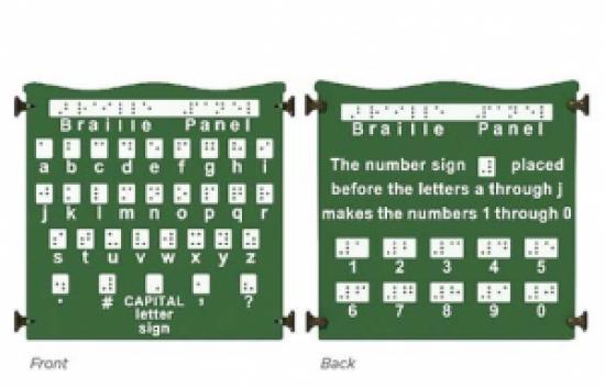 Braille playground activity panel