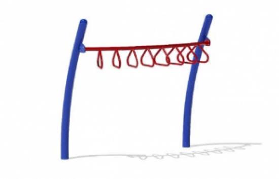 Curved Tri-Rung Overhead Ladder