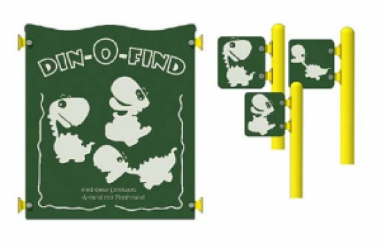 din-o-find activity commercial playground panel set