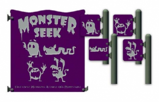 monster themed activity playground panels