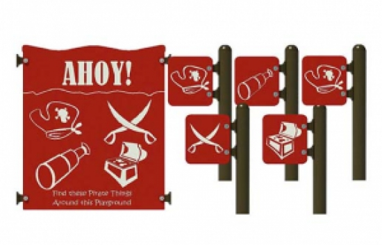 pirate find activity panel set for commercial playground equipment