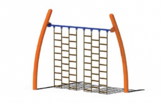 straight climbing wall playground component