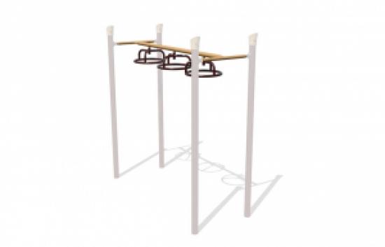 3-wheel overhead playground bars