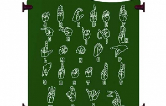 sign language panel for commercial playground equipment