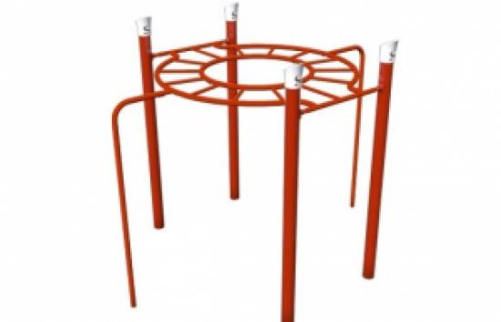 circle overhead playground bars