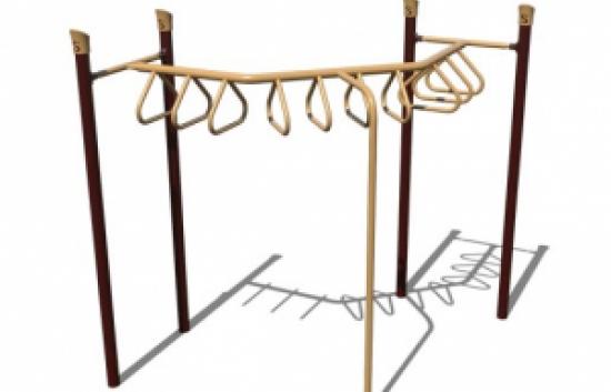 90 degree tri rung overhead playground ladder