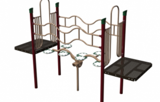 inch worm bridge playground component