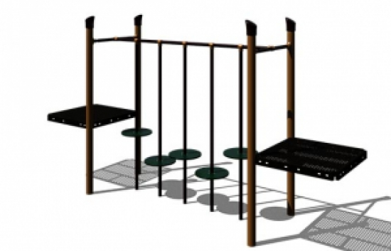 lily pad bridge component for playground