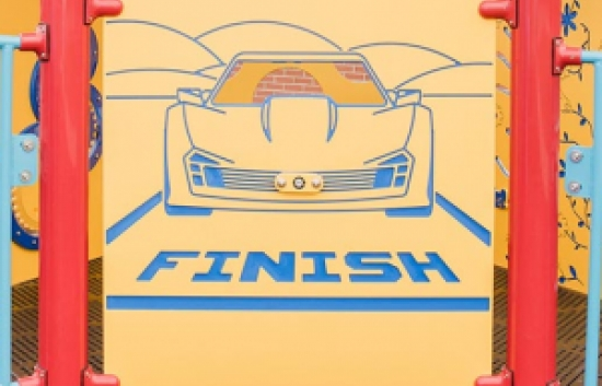 Race Car playground panel front