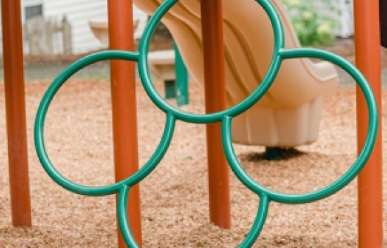 ring climber component for playgrounds