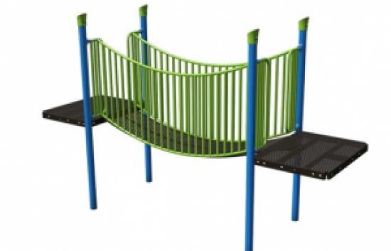 suspension bridge commercial playground component