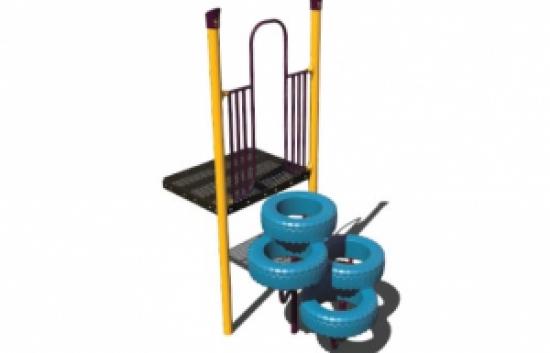 tire playground climber