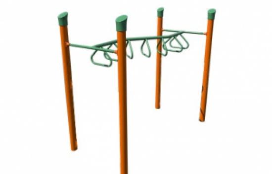 zig-zag overhead ladder playground component