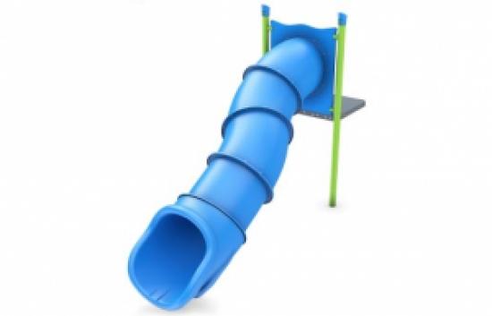 zig zag tube slide