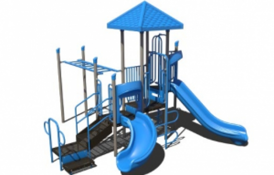 blue and gray playground