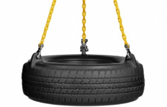 plastic tire swing seat with chain