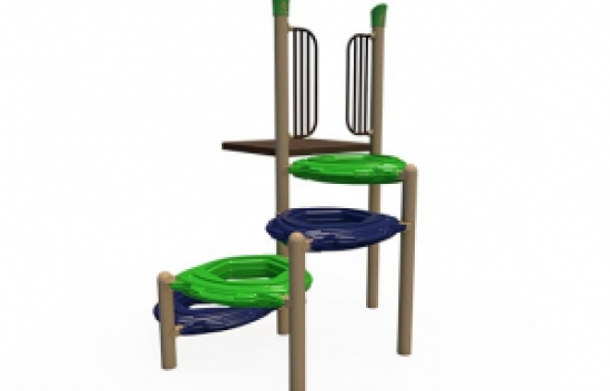 spiral playground climber