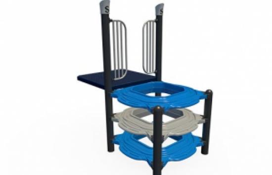 square playground climber