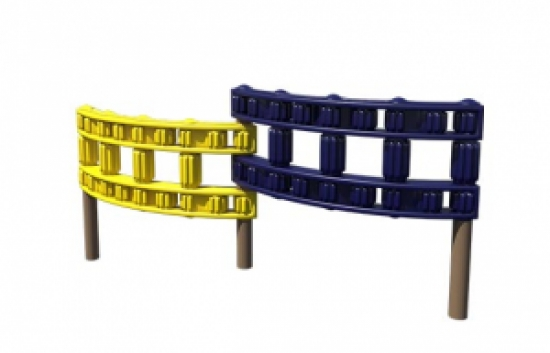 playground chain link wall