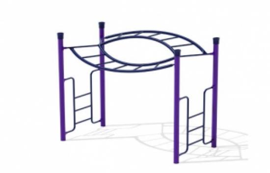 over under playground bars