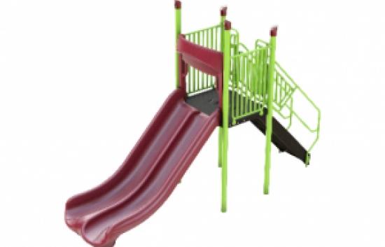 freestanding double straight triple rail slide