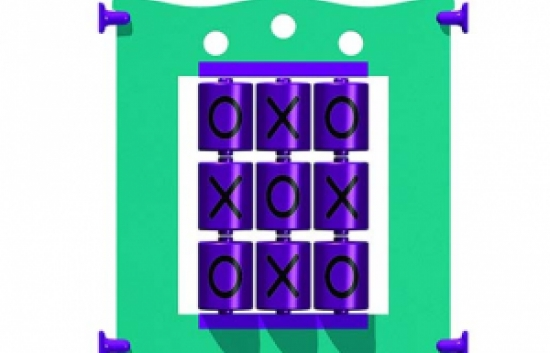 tic-tac-toe panel for commercial playground equipment
