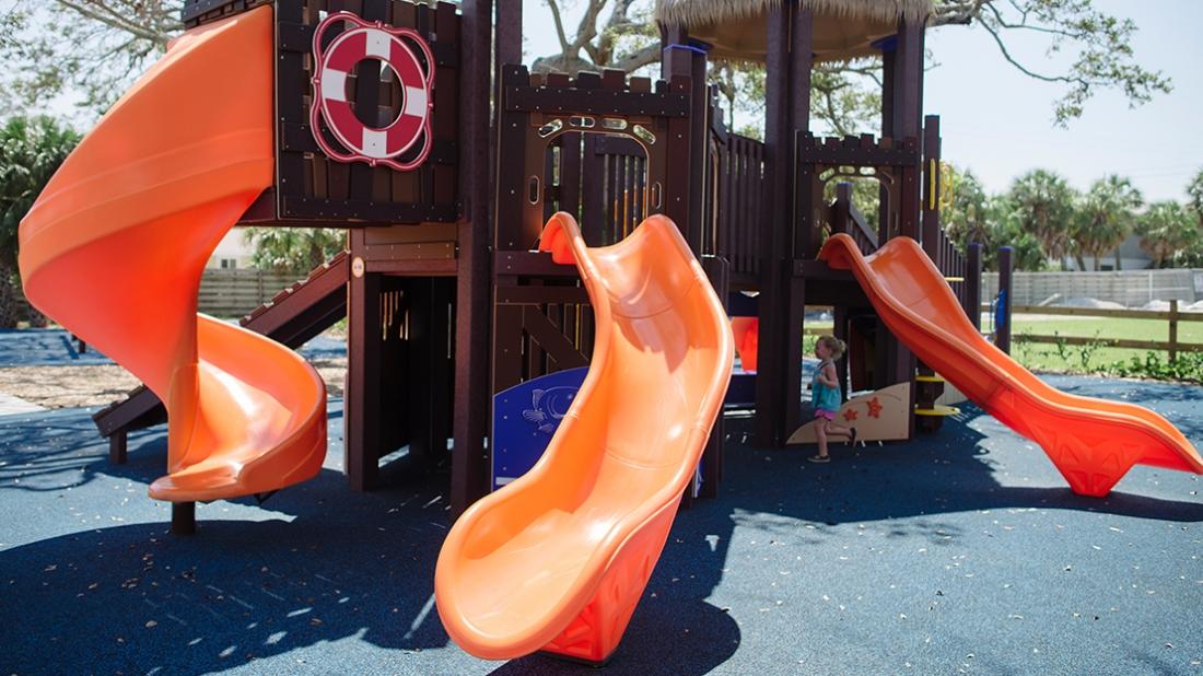 large orange slide