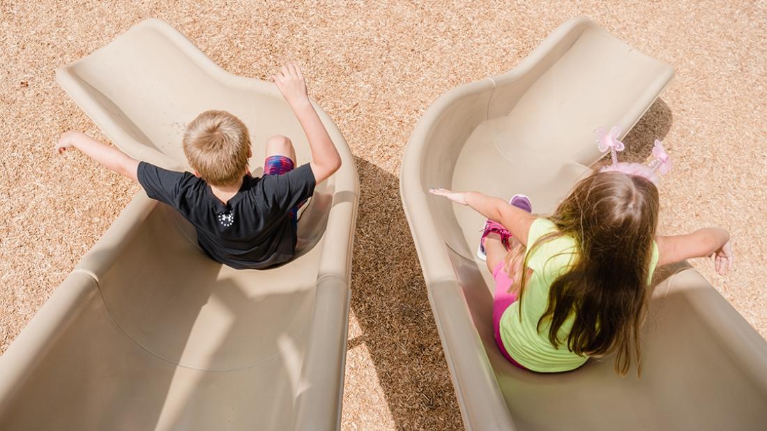 Children at Play on Slide