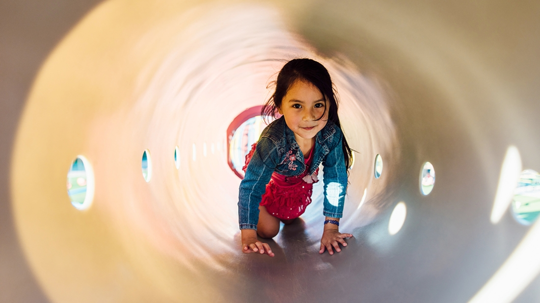 girl-in-play-tunnel